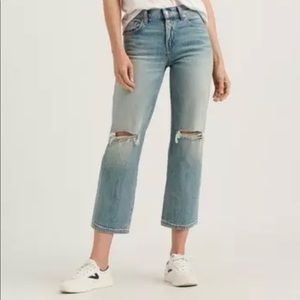 NWT Lucky Brand Mid Rise Cropped jeans, 8